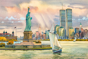 Statue of Liberty by Roustam Nour fine art giclée print