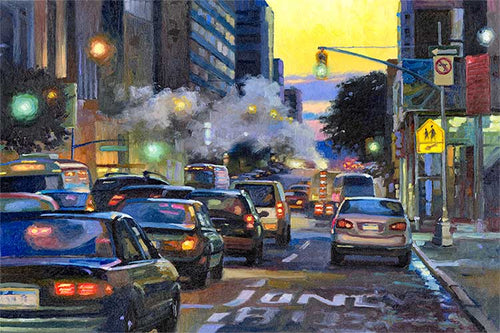 New York Streets by Max Lanchak fine art giclée print on canvas