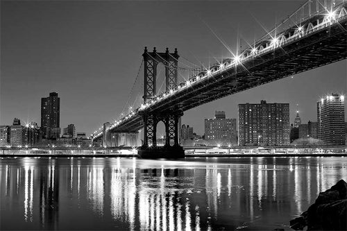 Manhattan Bridge black and white photograph by Russel Bach fine art giclée print