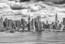 Load image into Gallery viewer, New York Skyline black & white photograph by Russel Bach fine art giclée print