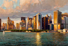 Load image into Gallery viewer, New York Downtown by Max Lanchak fine art giclée print on canvas