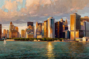 New York Downtown by Max Lanchak fine art giclée print on canvas