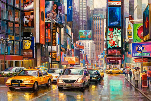 Times Square by Max Lanchak fine art giclée print on canvas