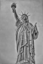 Load image into Gallery viewer, Lady Liberty black and white photograph by Russel Bach fine art giclée print