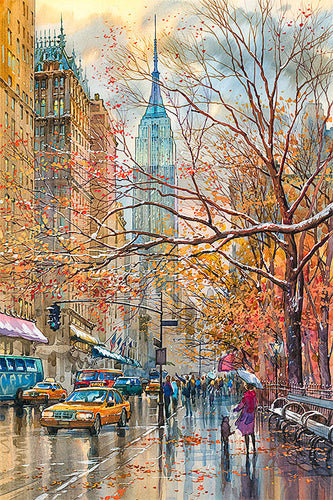 Fifth Avenue by Roustam Nour fine art giclée print