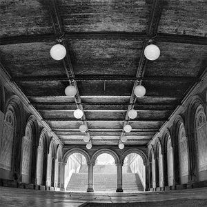 Bethesda Terrace Underpass black & white photograph by Alex Leykin fine art giclée print