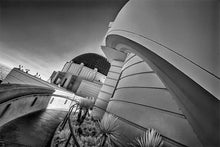 Load image into Gallery viewer, Griffith Observatory infrared black & white photograph by Alex Leykin fine art giclée print