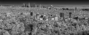 Los Angeles black & white photograph by Alex Leykin fine art giclée panoramic print