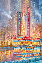 Load image into Gallery viewer, Radio City by Roustam Nour fine art giclée print