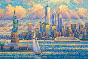 New York Skyline by Max Lanchak fine art giclée print on canvas