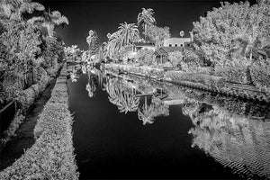 Venice Canal black & white photograph by Alex Leykin fine art giclée print