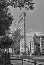 Load image into Gallery viewer, Flatiron Building black & white photograph by Alex Leykin fine art giclée print