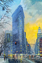 Load image into Gallery viewer, Flatiron Building by Nataly Shootkin fine art giclée print on canvas
