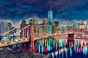 Freedom Tower by Nataly Shootkin fine art giclée print on canvas
