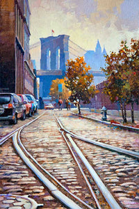Brooklyn by Max Lanchak fine art giclée print on canvas