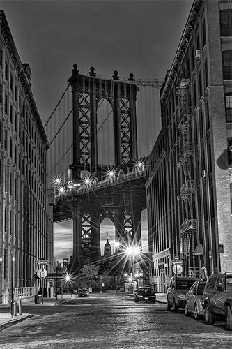 Manhattan Bridge black & white photograph by Russel Bach fine art giclée print