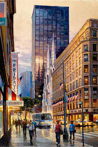St. Patrick's Cathedral by Max Lanchak fine art giclée print on canvas