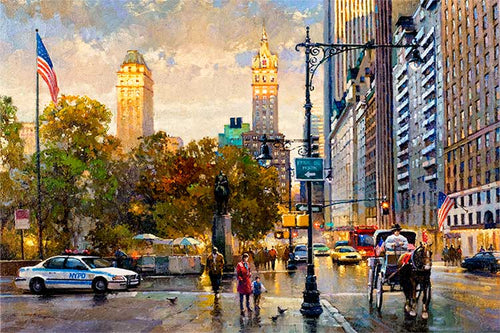 Central Park South by Max Lanchak fine art giclée print on canvas