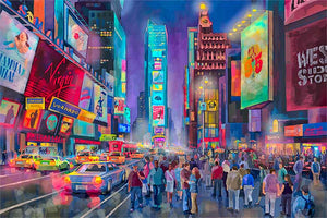 Times Square by Nataly Shootkin fine art giclée print on canvas