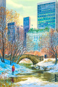 Central Park South by Roustam Nour fine art giclée print
