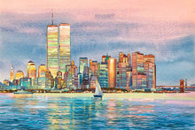 Load image into Gallery viewer, New York Skyline by Roustam Nour fine art giclée print
