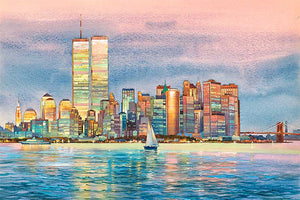 New York Skyline by Roustam Nour fine art giclée print