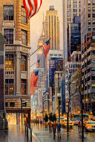 Fifth Avenue by Max Lanchak fine art giclée print on canvas