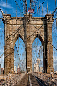 Brooklyn Bridge Web color photograph by Russel Bach fine art giclée print