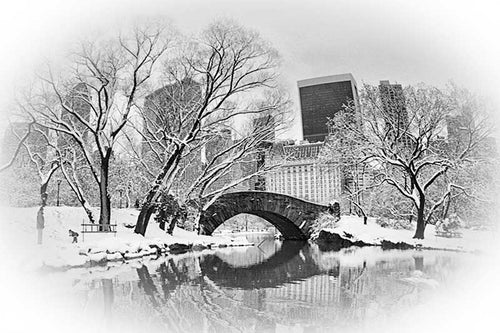 Gapstow Bridge black & white photograph by Alex Leykin fine art giclée print