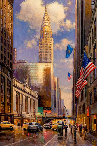 Chrysler Building by Max Lanchak fine art giclée print on canvas
