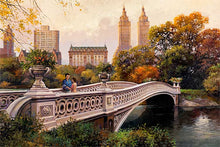 Load image into Gallery viewer, Bow Bridge by Max Lanchak fine art giclée print on canvas