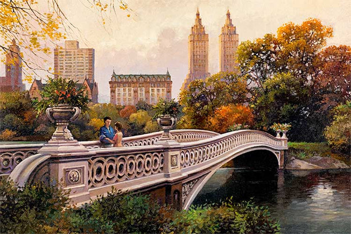 Bow Bridge by Max Lanchak fine art giclée print on canvas