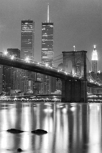 Brooklyn Bridge black & white photograph by Alex Leykin fine art giclée print