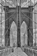 Load image into Gallery viewer, Brooklyn Bridge Web black & white photograph by Alex Leykin fine art giclée print
