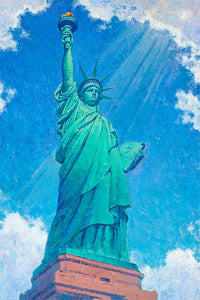 Statue of Liberty by Max Lanchak fine art giclée print on canvas