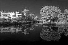 Load image into Gallery viewer, Venice Canal black & white photograph by Alex Leykin fine art giclée print