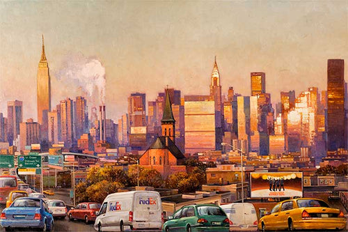 New York City by Max Lanchak fine art giclée print on canvas