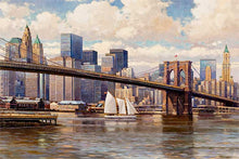 Load image into Gallery viewer, Brooklyn Bridge by Max Lanchak fine art giclée print on canvas