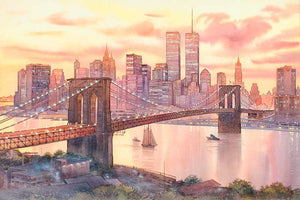 Brooklyn Bridge by Roustam Nour fine art giclée print