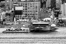 Load image into Gallery viewer, New York Skyline black & white photograph by Russel Bach artwork details