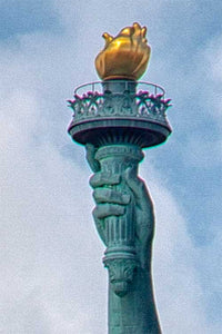 Lady Liberty color photograph by Russel Bach artwork details