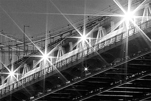 Manhattan Bridge black and white photograph by Russel Bach artwork details