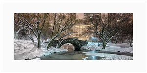 Gapstow Bridge color panoramic photograph by Russel Bach matted artwork