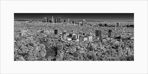 Los Angeles black & white photograph by Alex Leykin matted panoramic artwork