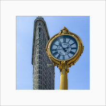 Load image into Gallery viewer, Flatiron Building color photograph by Alex Leykin matted artwork