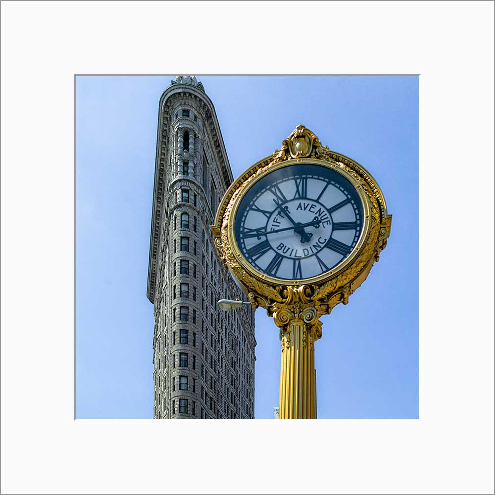 Flatiron Building color photograph by Alex Leykin matted artwork