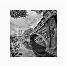 Load image into Gallery viewer, Bow Bridge black & white photograph by Alex Leykin matted artwork