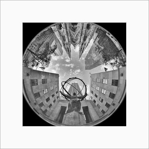 St. Patrick's Cathedral black & white photograph by Alex Leykin matted artwork