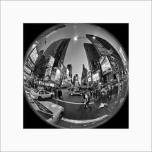 Load image into Gallery viewer, Times Square black & white photograph by Alex Leykin matted artwork