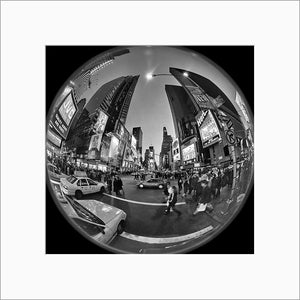 Times Square black & white photograph by Alex Leykin matted artwork